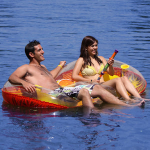EZ Breeze Duo - inflatable 2 person float with built in cooler