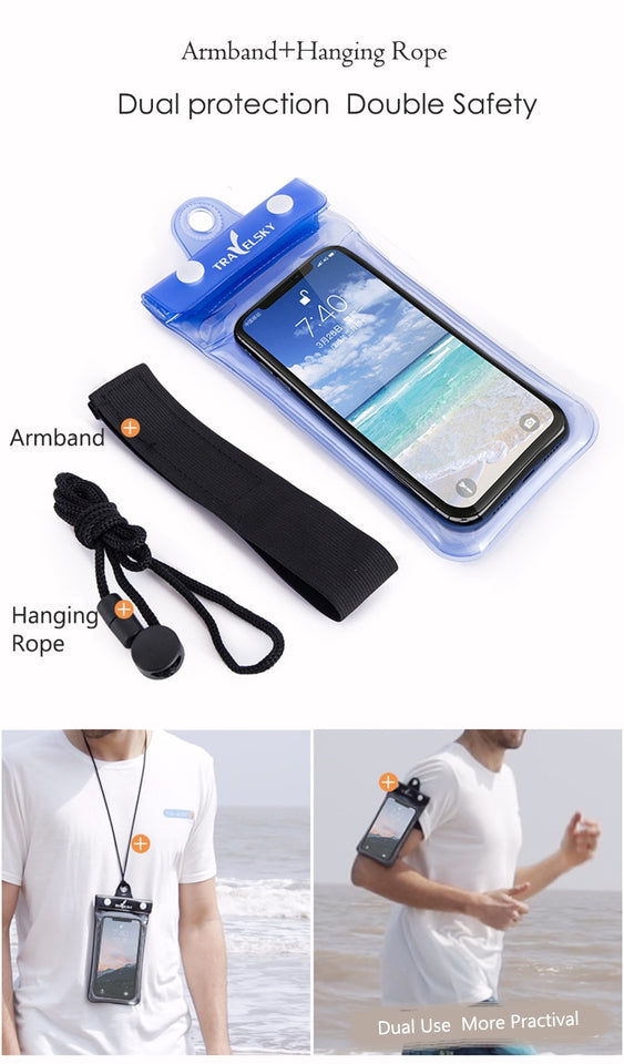 Waterproof Swimming Bag For Mobile - The Online Saving