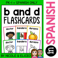 Spanish b and d Reversal Flashcards