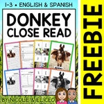 FREE Donkey Close Reading Passage Activities