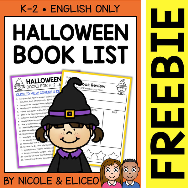 FREE Halloween Activities and Book List