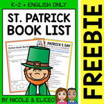 FREE St Patricks Day Activities and Book List
