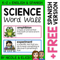 Science Word Wall Vocabulary