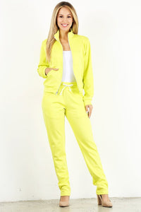 Neon Yellow Tracksuit Style# 2038 (6pcs)