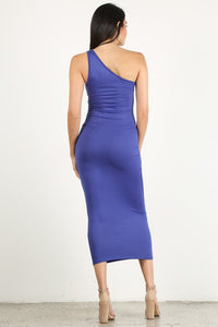 Royal Blue One Shoulder Dress