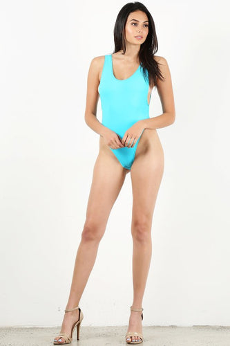 Neon Blue One Piece Bathing suit