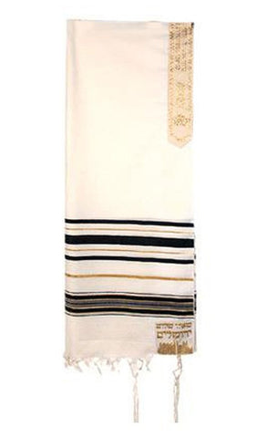 Black and Gold Joseph Acrylic Tallit - Holy Land Gifts