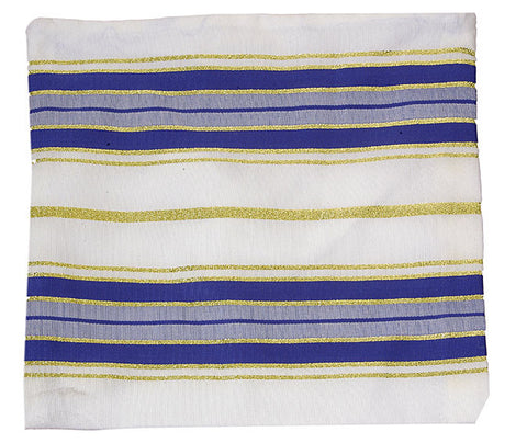 Blue & White Acrylic Tallit Bag - Holy Land Gifts