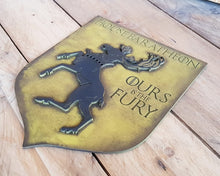 Load image into Gallery viewer, House Baratheon, Banner wood sign of Game of Thrones.