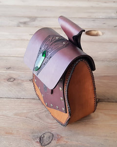 Leather Dwarf pouch.