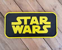 Load image into Gallery viewer, STAR WARS logo. Wood Sign.