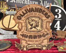 Load image into Gallery viewer, Ollivanders Wood Sign.