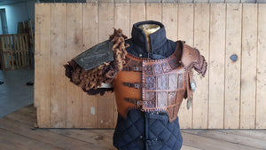 Barbarian Leather armor set.