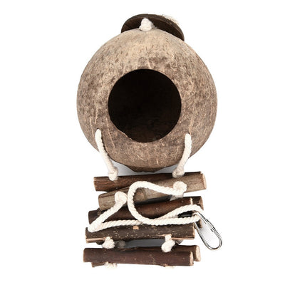 Bird Toy Hanging Hammock Swing With Wooden Ladder - Pets.al