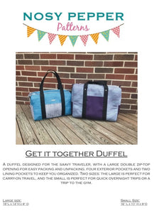 Get it Together Duffel PDF Pattern