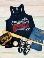 Team Name Tank with Laces, Grizzlies Baseball,  Kennesaw Generals, Any Team Name, Glitter Tank, Baseball Mom Tank, Baseball Mom, Glitter