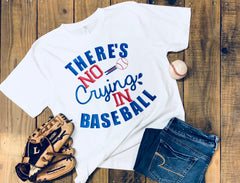 There's no crying in Baseball, Baseball Tee, Unisex Tee