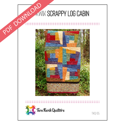 Kwik Scrappy Log Cabin Pattern - PDF