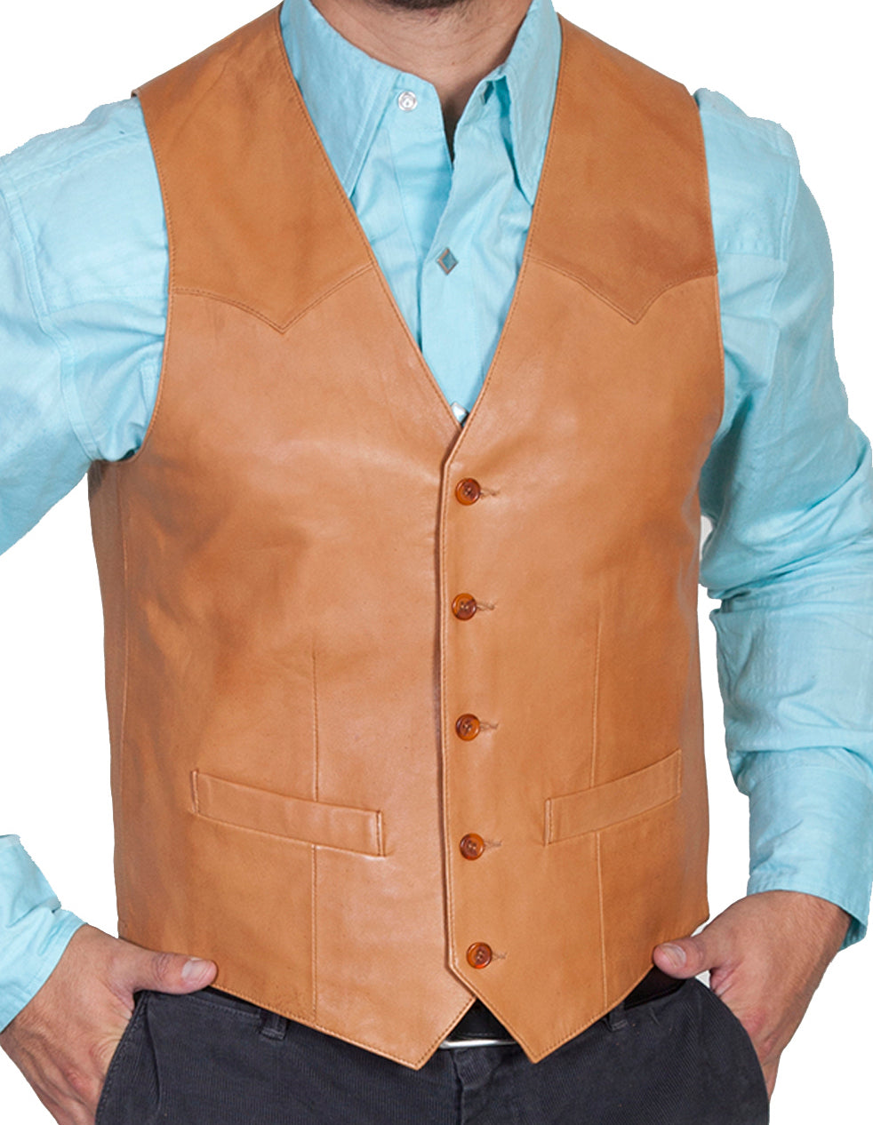 Man-Wearing-Ranch-Tan-Leather-Vest-Western-Cut-by-Scully-503-171