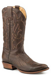 Mens-Brown-Brushoff-Leather-R-Toe-Boot-by-Stetson-7311-1671