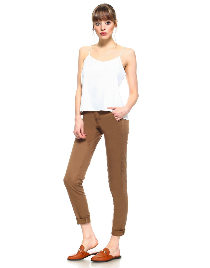 Standard Womens Cropped Trouser - Tan