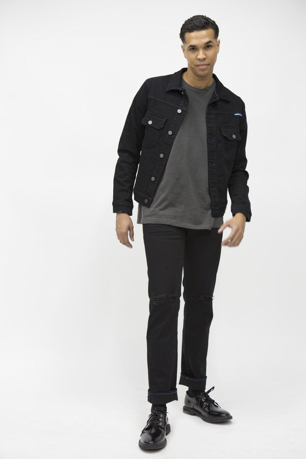 Standard Mens Modern Fit Denim Jacket - Black