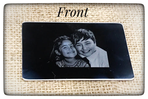 Photo/ Handwriting Engraved Wallet Insert