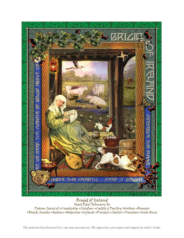 Brigid of Ireland Downloadable Print - PatriArts Gallery