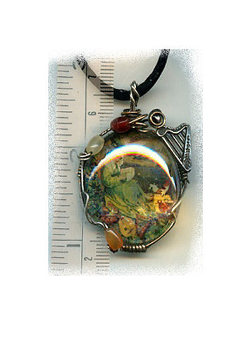 Brigid of Ireland Glass Pendant - PatriArts Gallery