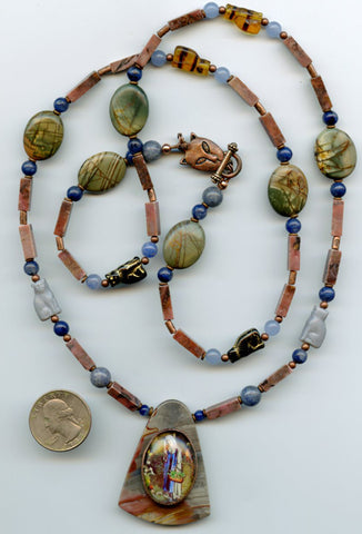 Gertrude Versatile Gemstone Necklace - PatriArts Gallery