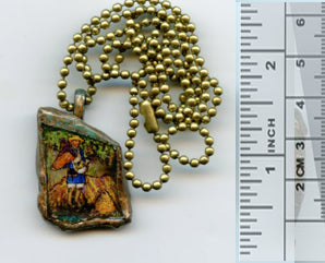 Vincent Bottle Glass Pendant 010 - PatriArts Gallery