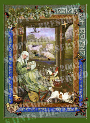 Brigid of Ireland Tile - PatriArts Gallery
