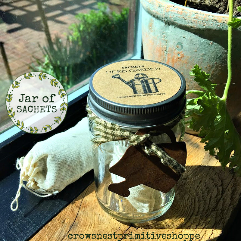 Jar of Sachets- Herb Garden