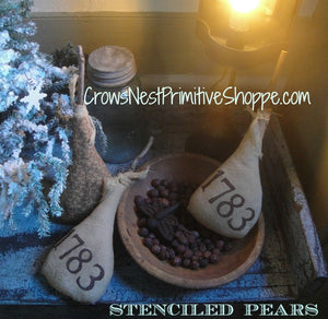 Bowl Filler-Stenciled Fabric Pear