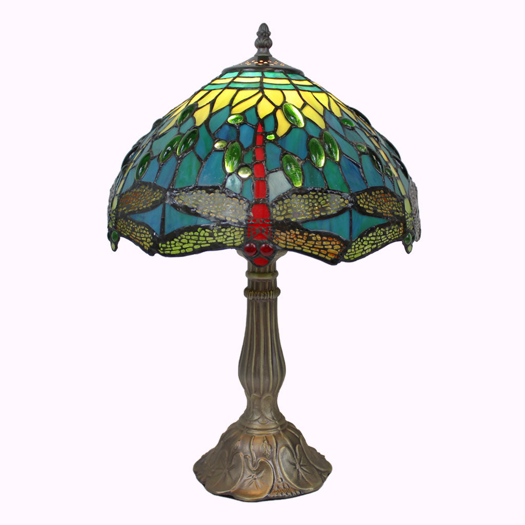 Blue-Green Dragonflies Tiffany Table Lamp