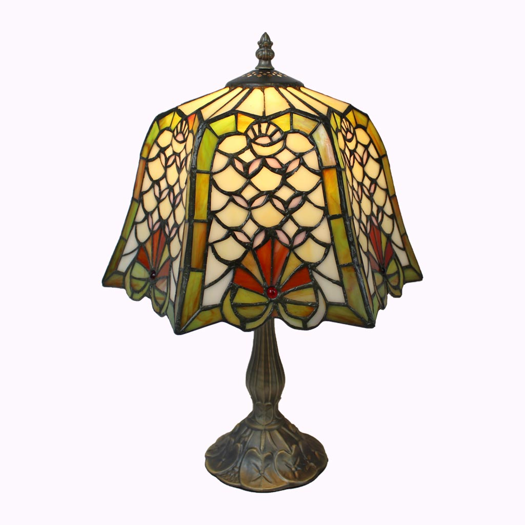 Diamond and Shells Tiffany Table Lamp