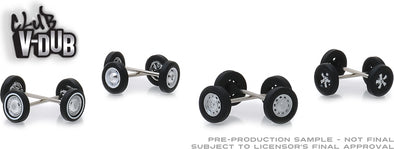 GreenLight 1/64 Club Vee-Dub Wheel & Tire Pack - 16 Wheels, 16 Tires, 8 Axles (Hobby Exclusive) #13166