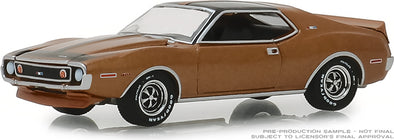 GreenLight 1/64 GreenLight Muscle Series 21 - 1972 AMC Javelin AMX - Baja Bronze Solid Pack #13230-B