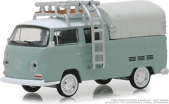 GreenLight 1/64 Club Vee-Dub Series 8 - 1974 Volkswagen Type 2 Double Cab Pickup Ladder Truck Solid Pack #29940-D