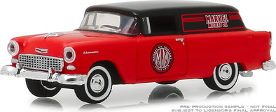 GreenLight 1/64 Blue Collar Collection Series 5 -1955 Chevrolet Sedan Delivery - Marvel Mystery Oil Solid Pack - #35120-A