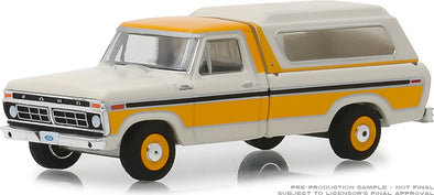 GreenLight 1/64 Blue Collar Collection Series 5 -1977 Ford F-100 with Camper Shell Solid Pack - #35120-D