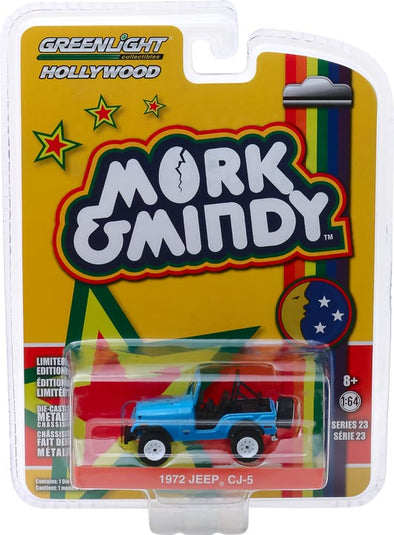 GreenLight 1/64 Hollywood Series 23 - Mork & Mindy (1978-82 TV Series) - 1972 Jeep CJ-5 Solid Pack - #44830-A