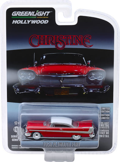 GreenLight 1/64 Hollywood Series 23 -  Christine (1983) - 1958 Plymouth Fury Solid Pack - #44830-C
