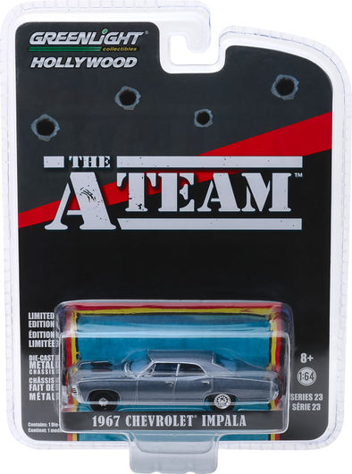 GreenLight 1/64 Hollywood Series 23 - The A-Team (1983-87 TV Series) - 1967 Chevrolet Impala Sedan Solid Pack - #44830-D