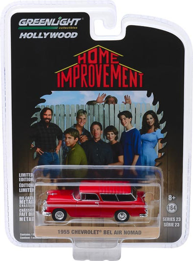 GreenLight 1/64 Hollywood Series 23 - Home Improvement (1991-99 TV Series) - 1955 Chevrolet Bel Air Nomad Solid Pack - #44830-E
