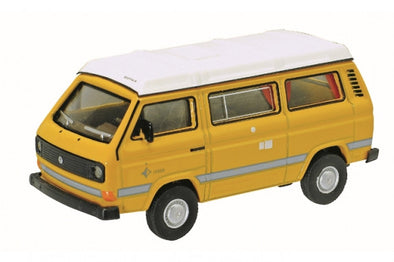 Schuco 1/64 VW T3 Westfalia Camper with flat roof, yellow #452013800
