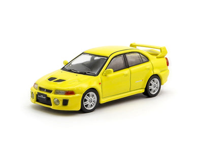 Tarmac Works Hobby64 Mitsubishi Lancer Evolution V Yellow - T64-012-YL