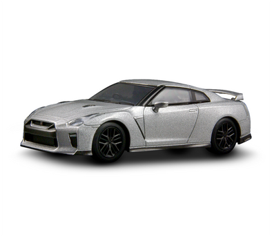 Kyosho 1/64 NISSAN GT-R 2017 - Silver