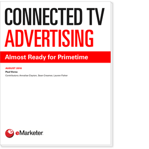 Connected TV Advertising: Almost Ready for Primetime