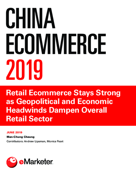 China Ecommerce 2019: Retail Ecommerce Stays Strong as Geopolitical and Economic Headwinds Dampen Overall Retail Sector